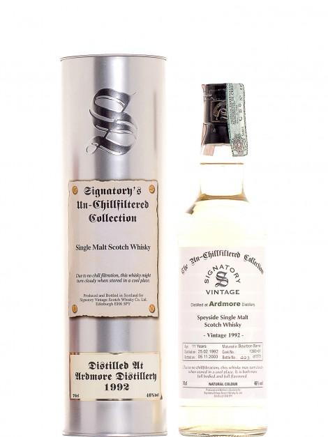 Ardmore 1992 11 Y.O. Bourbon Barrel SIGNATORY