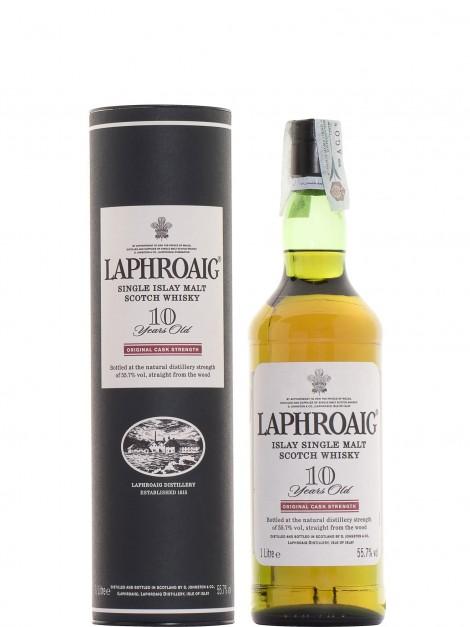 Laphroaig 10 Year Old Cask Strength 55.7% Liter