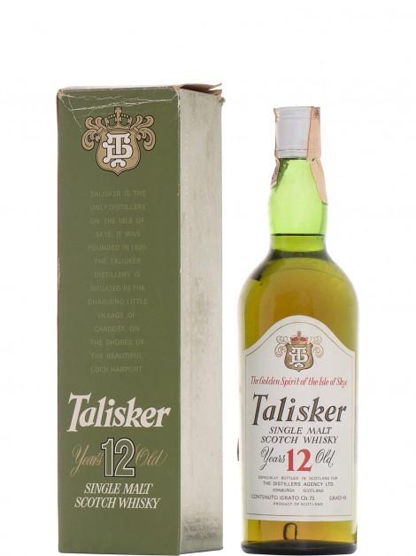Talisker 12 Year Old The Disillers Agency Ltd